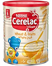Nestle Cerelac Infant Cereal Wheat & Fruits, Tin pack, 400g