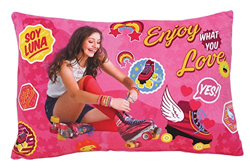 FUN HOUSE Soy Luna Coussin RECTANGULAIRE, Polyester, Rose, 40x5x22 cm