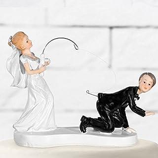 Tortenfigur Hochzeit Brautpaar Tortenaufsatz Tortendeko Hochzeitspaar für Torte von Haus der Herzen