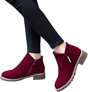 Women Boots - Women Fashion Boots Suede Ankle Boots High Heeled Shoes Short Booties by Lowprofile