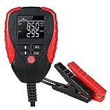Batterie de voiture numérique testeur, 12V ACC Testeur de batterie de charge avec une paire de pinces de la batterie, l'alternateur automobile Analyzer avec affichage LED pour AH, Tension, Résistance