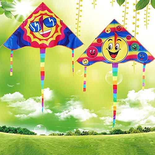 XiaoOu Drachen für Kinder Lächeln Engel Smiley Sports Beach Toy Design Lächelnder Drachen Drachen Lächeln Stunt Drachen Kinderspielzeug, Stil 3