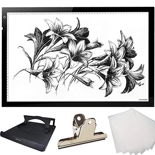Huion Extra Thin Light PAD LED Drawing Copy Tracing Stencil Board Table Tatoo Pad Translucent Light BoxWith Multifunction Holder