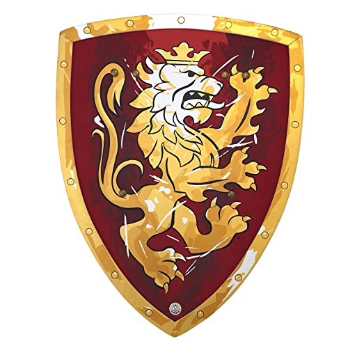 Liontouch 11350LT Medieval Noble Knight Foam Toy Shield, Red | Part of A Kid's Costume Line