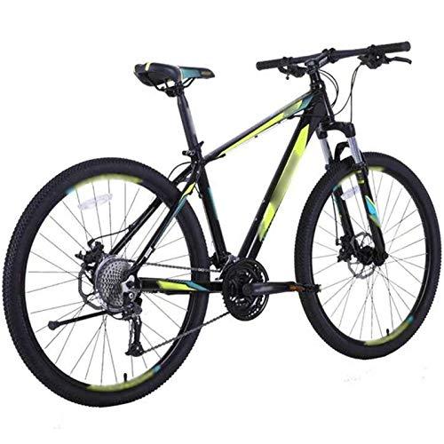 WPW Bicicleta de Montaña, Bicicleta de Carretera de 27 Velocidades para Hombres y Mujeres Que Amortigua MTB con Ruedas de 27,5 Pulgadas (Color : Verde, Talla : 15.5 Inches)