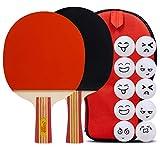 5 Star Ping Pong Set Paddle 2 Tennis De Table, Raquettes Convient pour Les Joueurs InterméDiaires