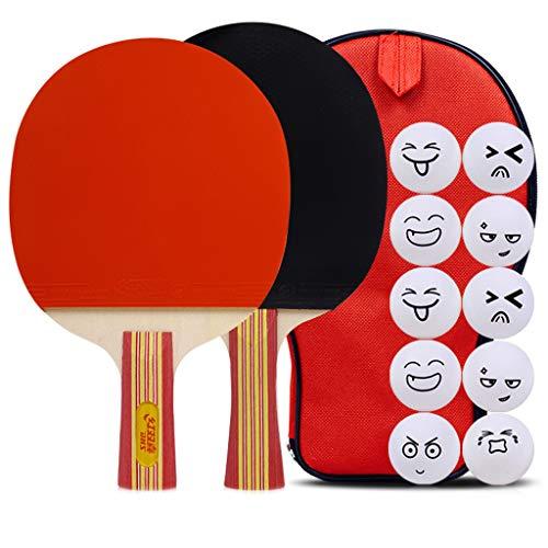 5 Estrella Paleta De Ping Pong Juego De 2 Raquetas De Tenis De Mesa, Apto para Jugadores Intermedios