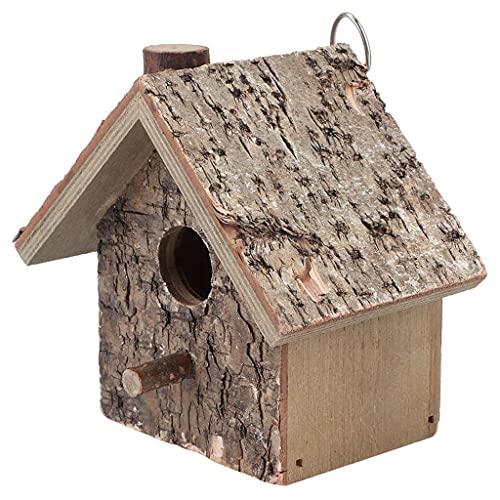 SCDCWW Pájaro de Madera Casa Nido Hecho A Mano Ecológico Pájaro Jerarquía Jerarquía Al Aire Libre Pájaro Jardín Jardín Colgando Decoración Artesanía
