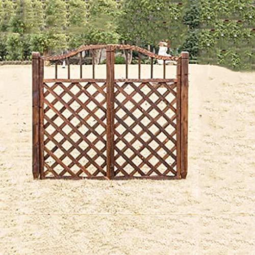 QBZS-YJ Outdoor Patio Hek Grid Massief Houten Deur Tuintuin Tuintuin Pastorale Kleine Houten Deur Binnenplaats Hek Houten Hek Poort