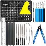 Juego de herramientas para manualidades, 17 piezas, , herramientas de acero inoxidable, accesorios para HTV, Cameos, rótulos, incluyendo ganchos desrejados, pinzas, espátula, silueta