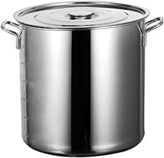 Stockpots, Olla Grande Capacidad, la Olla Olla de Acero Inoxidable de Cocina, Caja Fuerte de la Olla con Tapa -36.4cm, 30L