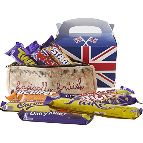 Cioccolato Cadbury, 10 Barrette assosrtite di Cioccolata Inglese + astuccio portapenne Basically British