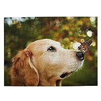 500ピース ジグソーパズル ゴールデンレトリバー パズル 木製パズル 動物 風景 絵 ピクチュアパズル Puzzle 52.2x38.5cm