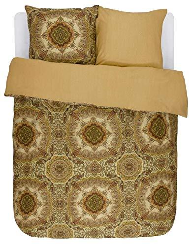 Essenza reversible duvet cover set satin golden yellow size 80x80 cm / 155x220 cm