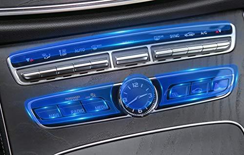 Pantalla 1 juego interior Molduras en forma for el Mercedes Benz Clase C E GLC W205 W213 X253 coches AC Centro de control Botones de reloj reloj de la tabla de membrana película del protector