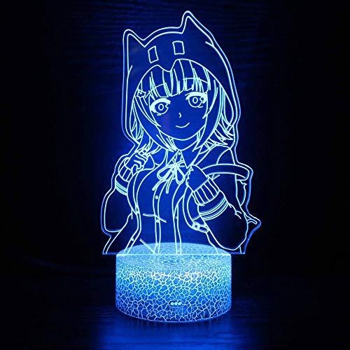 3D-LED-Nachtlicht, 3D-Optische Illusion, Lampe, Anime-Charaktere, USB-Ladegerät, cooles Spielzeug, Geschenkideen, Geburtstag, Urlaub, Weihnachten für Baby