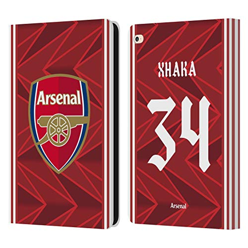 Official Arsenal FC Granit Xhaka 2020/21 Players Home Kit Group 2 Leather Book Wallet Case Cover Compatible For Apple iPad Air 2 (2014)