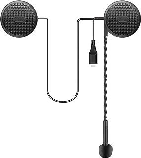 Geva Motorcycle Helmet Bluetooth Headset, Wireless Bluetooth 5.0 Ultra-Thin Helmet Heaphones for Automatic Answering, Call...