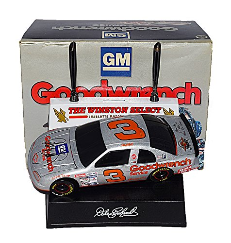 2X AUTOGRAPHED 1995 Dale Earnhardt Sr. #3 GM Goodwrench Racing THE WINSTON CHARLOTTE SILVER SELECT (Both Box & Car Signed) BWC with Stand Action 1/24 NASCAR Diecast Car with COA