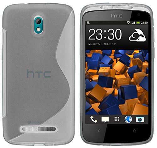 mumbi S-TPU Schutzhülle für HTC Desire 500 Hülle transparent schwarz