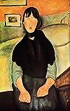 Das Museum Outlet–Modigliani–Young Braun Frau sitzt auf einem Bett–Poster Print Online kaufen (101,6x 127cm)