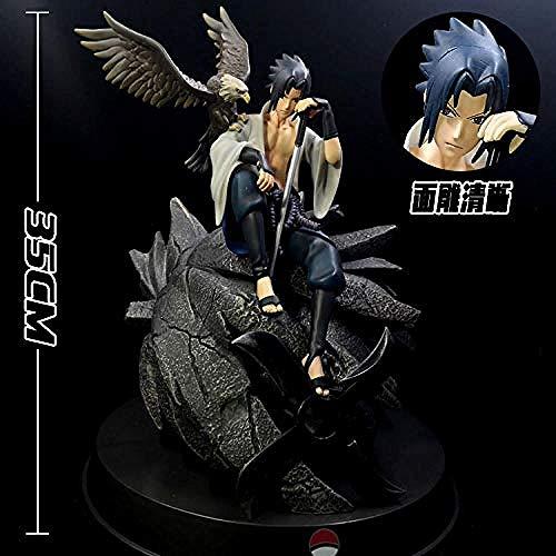gengxinxin Naruto Uchiha Sasuke Garagenbausatz Modell -1_ Uchiha Sasuke Modell Handmade Kreatives Design Sammlungswürdig Menschen Glücklich Tischplattendekoration Sammlungen