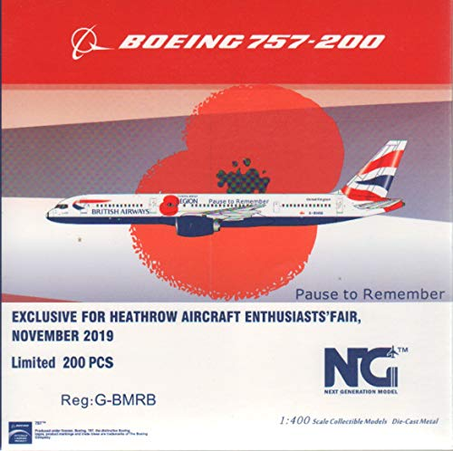 NG Model NGM53129 1:400 British Airways 757-200 Reg #G-BMRB