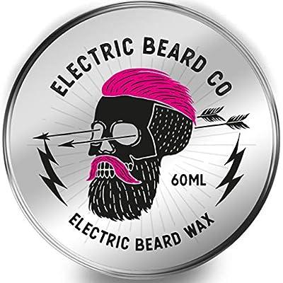 Beard Wax 60ml Moustache Wax - Electric Beard Wax! Super Hold, Super Firm - Possibly one of The Hardest Beard waxes on The Market!