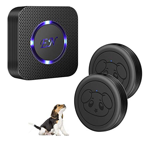 EverNary Dog Door Bell Wireless Doggie Doorbell for Potty Training with Warterproof Touch Button Dog Bells Included 1 Receiver + 2 Transmitters