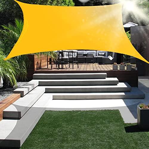 Toldo rectangular para toldo toldo rectangular toldo para sol al aire libre bloque UV toldo resistente a los rayos UV impermeable con kit de herrajes para cochera de patio al aire libre