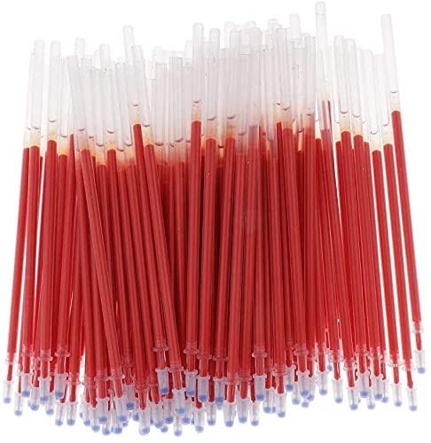 Weimay 100pcs Gel Pen Refills 0.5mm Ink Gel Pen Refills for Needle Tip Liquid Gel Pen/Rollerball Gel Ink Pen - Needle Tip Red