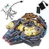 GEAMENT Kit de luces para Star Wars The Rise of Skywalker Millennium Falcon compatible con 75257 Lego Starship modelo (juego Lego no incluido)