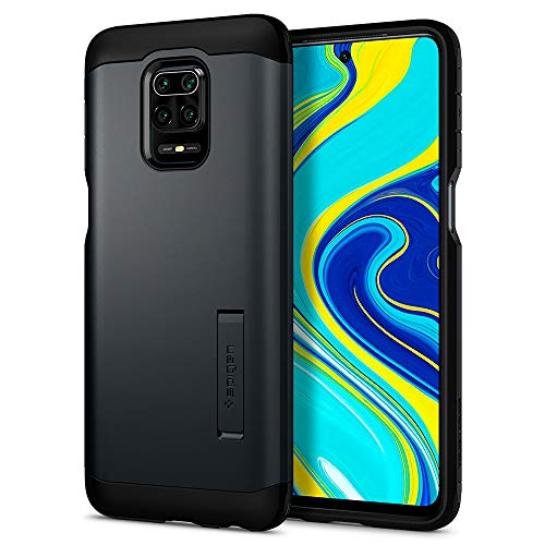 Spigen Funda Tough Armor Compatible con Xiaomi Redmi Note 9 Pro y Compatible con Xiaomi Redmi Note 9S - Metal Pizarra