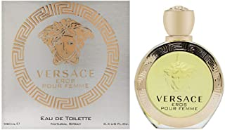 VERSACE Eros Eau de Toilette Spray for Women, 3.4 Ounce