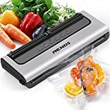 Rends Vacuum Sealer Machine, Automatic Food Sealer Built-in Air Sealing System with Cutter and Starter Kit, Dry/Moist Model & External Suction Design Vacuum Sealer Machine for Food Preservation