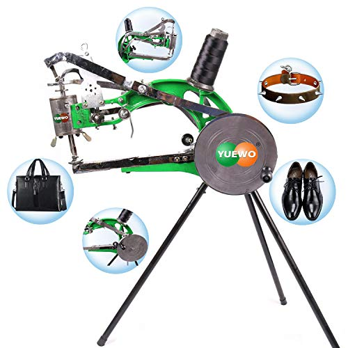 YUEWO DIY Shoe Repair Machine Manual Shoe Mending Sewing Machine Cobbler Shoe Repair Machine Cotton Nylon Line Sewing Machine