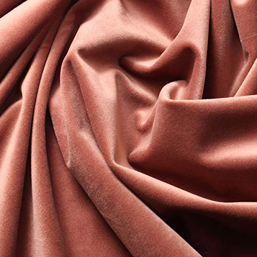 German Style Silky Velvet Home Fabric Textiles for Upholstery and Drapery 50 Colors Available Width = 60in (Rose Gold)