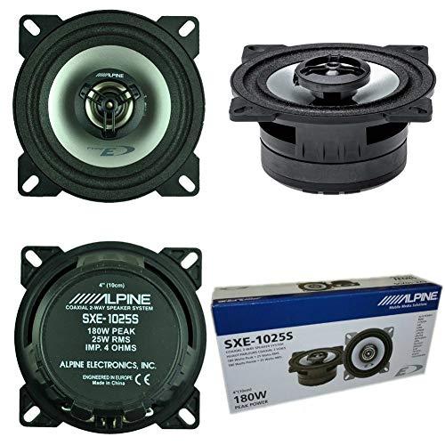 ALPINE SXE-1025S SXE 1025S coppia di altoparlanti diffusori 10,00 cm 100 mm 4  da 25 watt rms 180 watt max da predisposizione sistema a 2 vie coassiali per alloggiamenti standard porte auto 2 pezzi
