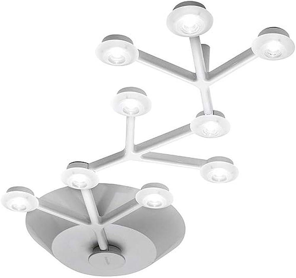 Artemide net lampadario da soffitto, lineare 66, led, 23 watts, bianco,  in alluminio verniciato 1590010A