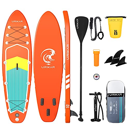 Urikar Inflatable Paddle Board for Adults, SUP Paddleboard Stand Up Paddle Board Inflatable, Blow Up Surf Boards for Men & Women with Accessories Set-Pump, Carrier, Waterproof Dry Bag