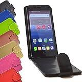 Flip 2 in 1 set Tasche für Hisense Sero 5 Slide Kleber Hülle Case Cover Schutz Bumper Etui Handyhülle in Schwarz