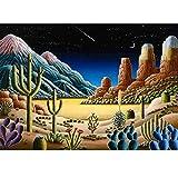 AIRDEA DIY 5D Diamond Painting Kit, Desert Cactus Full Diamond Embroidery Rhinestone Cross Stitch Arts Craft Supply for Home Wall Decor 11.8x15.8 inch