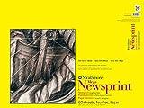 Strathmore 307-318 300 Series Mega Newsprint Pad, Rough 18'x24' Tape Bound, 60 Sheets