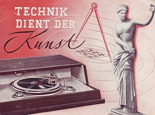Technik dient der Kunst Telefunken-Plattenspieler