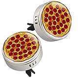 Italiana Pizza con fette di peperoni Illustrazione, 2 Pezzi Auto Aromaterapia Olio Essenziale Diffusore Clip di Sfiato