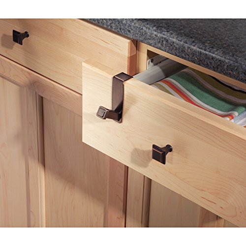 iDesign Marcel Over the Cabinet Peg Hook for Kitchen Dish Towel or Pot...