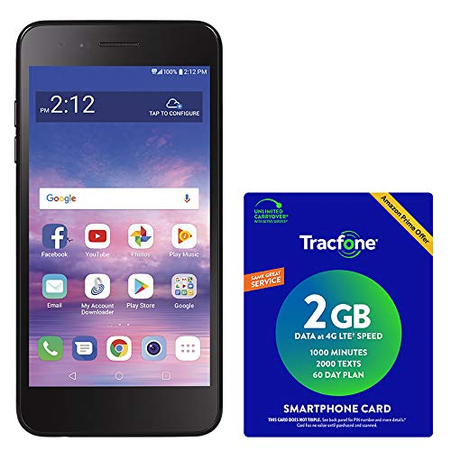 TracFone LG Rebel 4 4G LTE Prepaid Smartphone with Amazon Exclusive $40 Airtime Bundle