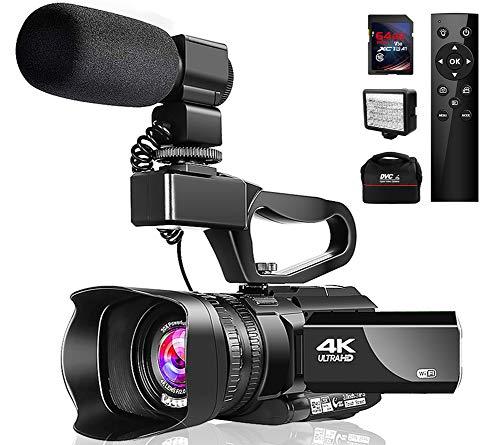 Videokamera 4K Camcorder mit Mikrofon 48MP Vlogging Kamera WiFi YouTube Kamera IR Nachtsicht 3