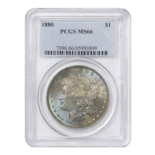 1880 American Silver Morgan Dollar MS-66 by CoinFolio $1 MS66 PCGS