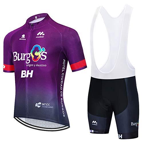 UIMED Ropa de ciclismo para hombre, ropa deportiva para ciclismo, ropa deportiva + culotte con pechera con gel 3D